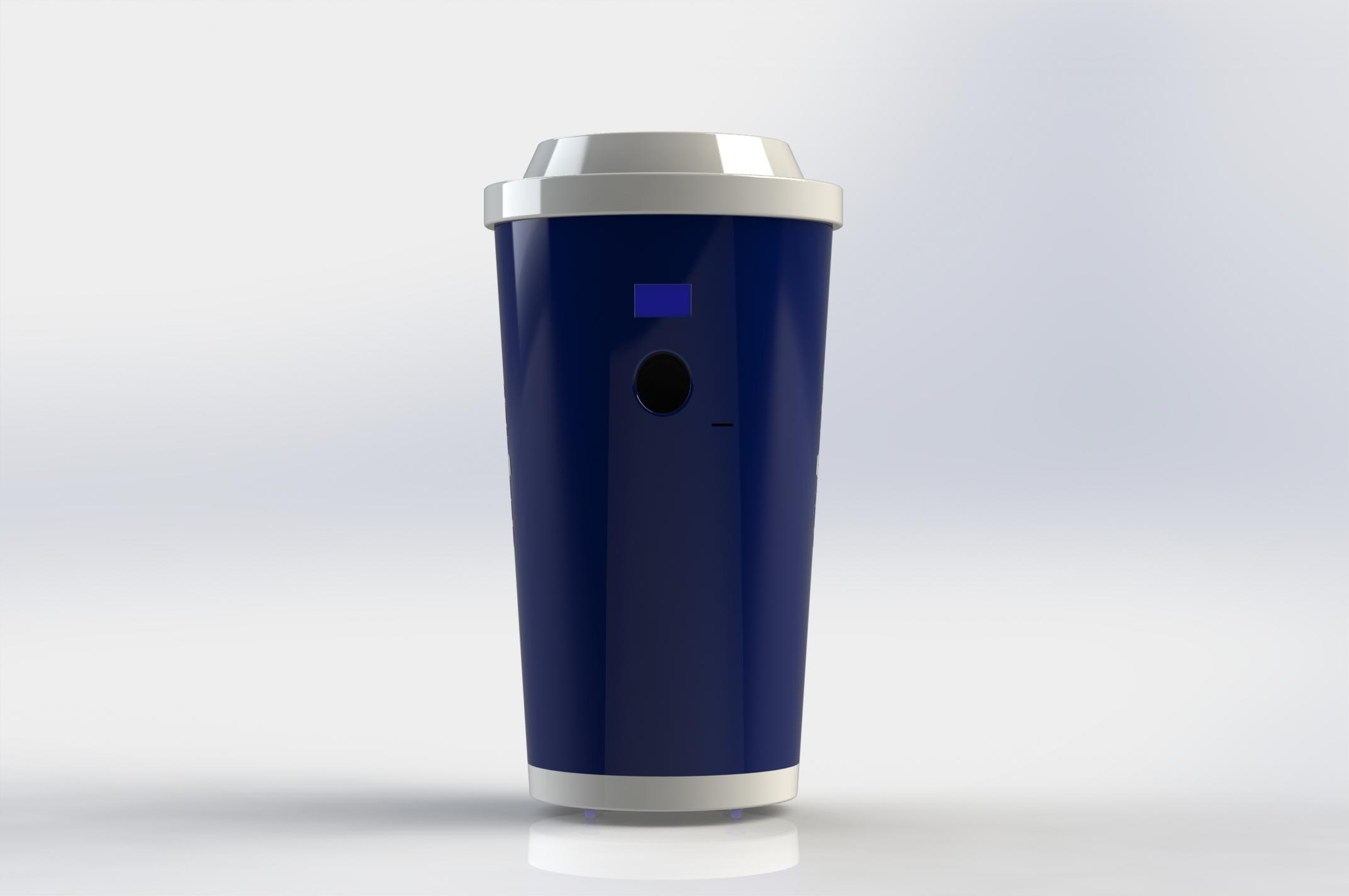 RÜcknahmeautomat Kaffee to go; Automat Mehrwegbecher; Spendeautomat Kaffee to go